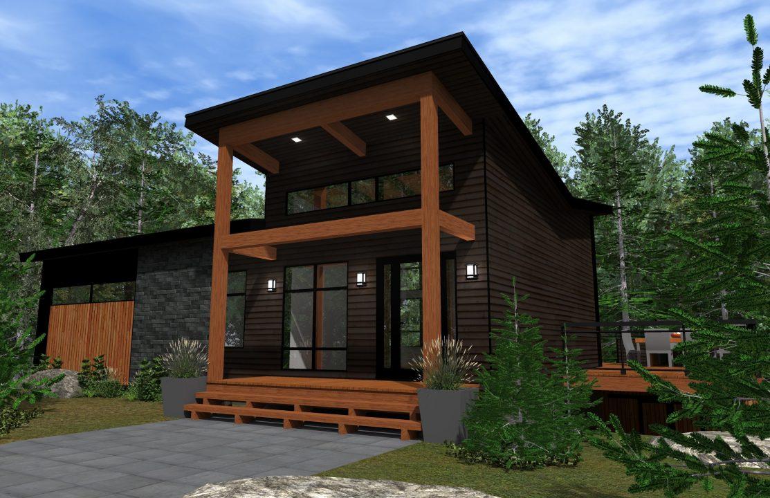 modele kansai habitation kyo exterieur 3d avant facade