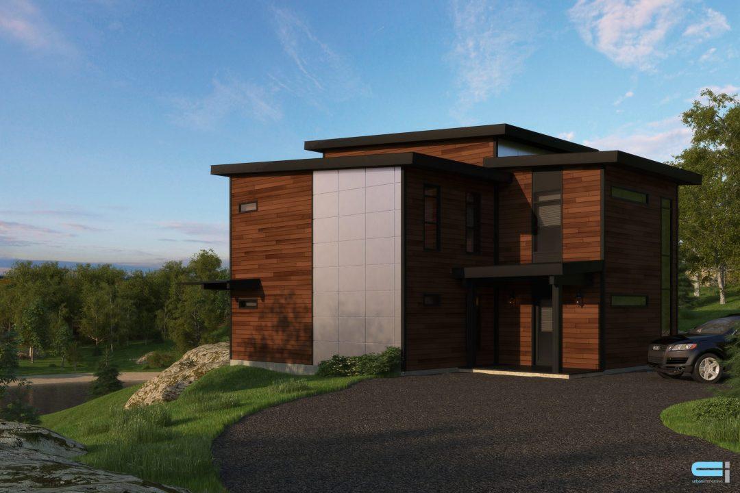 modele sunset habitation kyo exterieur 3d