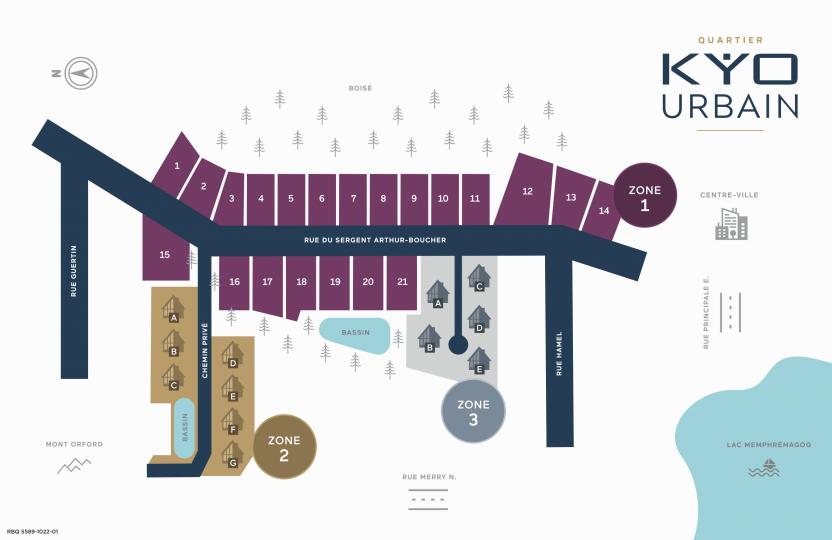 plan du projet quartier kyo urbain a magog