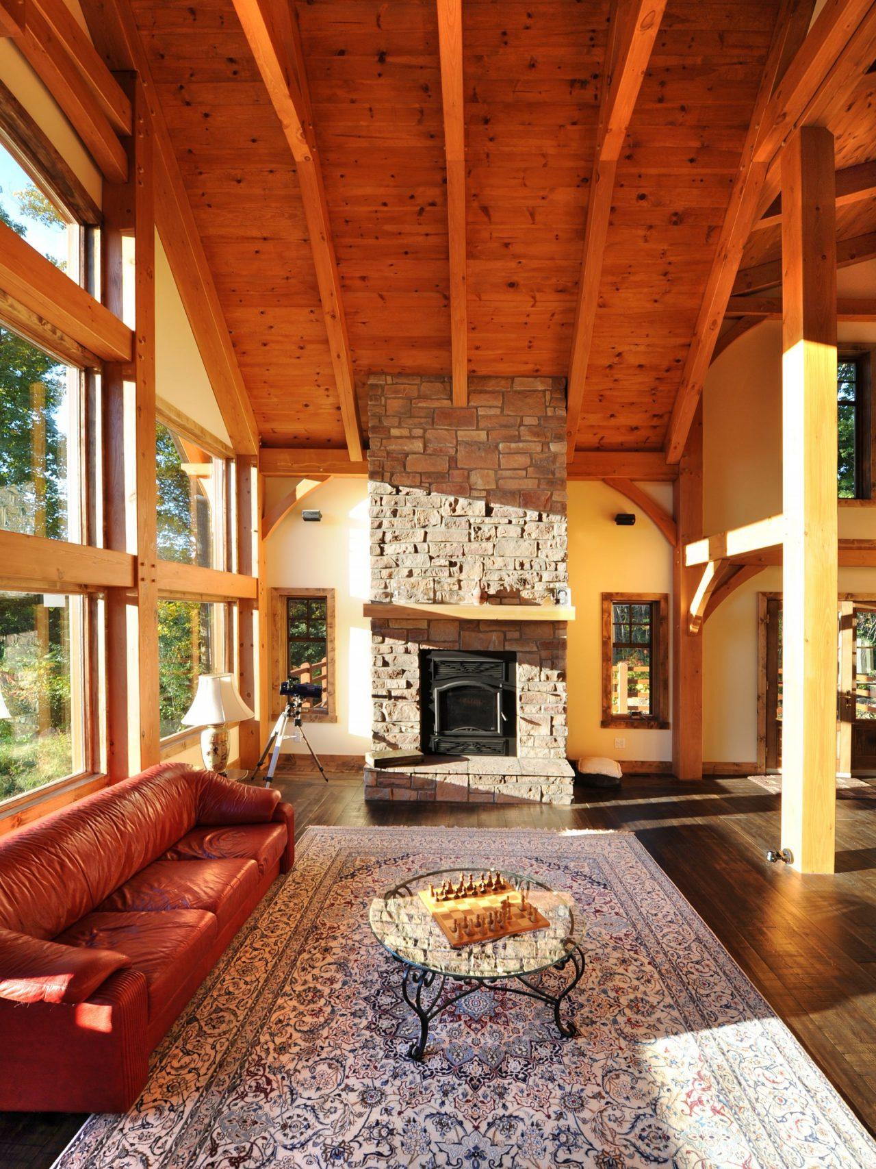 kalmia realisation classique kyo interieur timberframe foyer